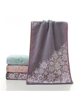 Floral Softness and Absorbency Cotton Face & Hand Towel