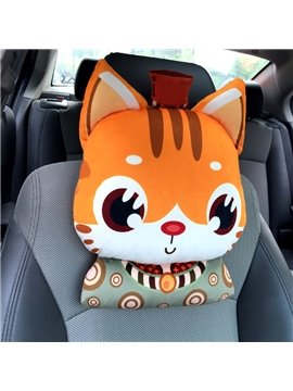Cute Cartoon Small Wolf Model Design Popular Car Headrest Pillow