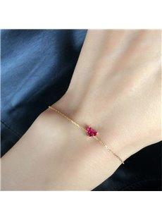 Women's Creative Gift Heart Shaped Sterling Silver Bracelet