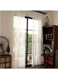 European Style Embroidery Custom Sheer Curtain