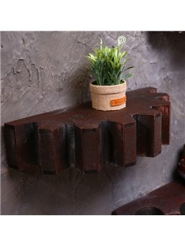 Classic Wooden Gear Shape Design Home Decoration Wall Shelves