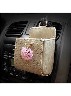 Textured High-Grade Luxury Elegant Beautiful Ballet Girl Decorative Car Outlet Organizer