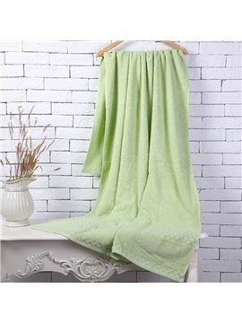 Green Soft Cotton Machine Washable Extra Large Bath Towel