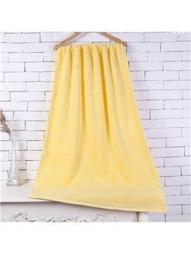 28-Inch-by-55-Inch Yellow Soft Cotton Bath Towel
