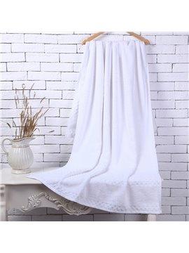 White Soft Cotton Machine Washable Extra Large Bath Towel