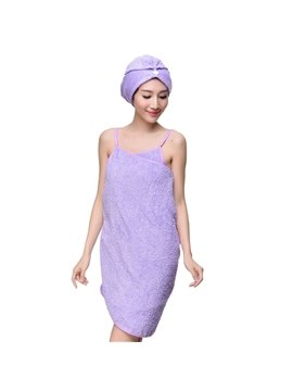 Sleeveless Towel Wrap Set Pure Cotton Cover Up for Ladies