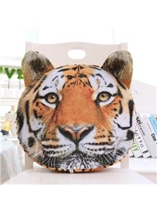 Personalized 3D Tiger Design Soft Throw Pillow