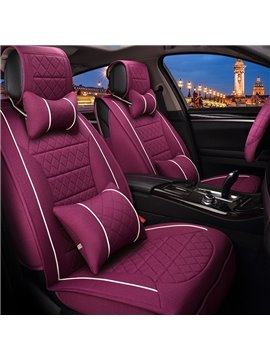 Attractive Purple Unique Style Design Durable PET Material Universal Five Car Seat Cover