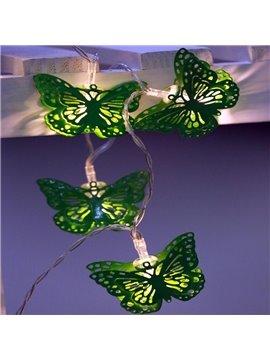 Green Iron Butterflies Shape 9.8 Feet Battery Decorative LED String Lights