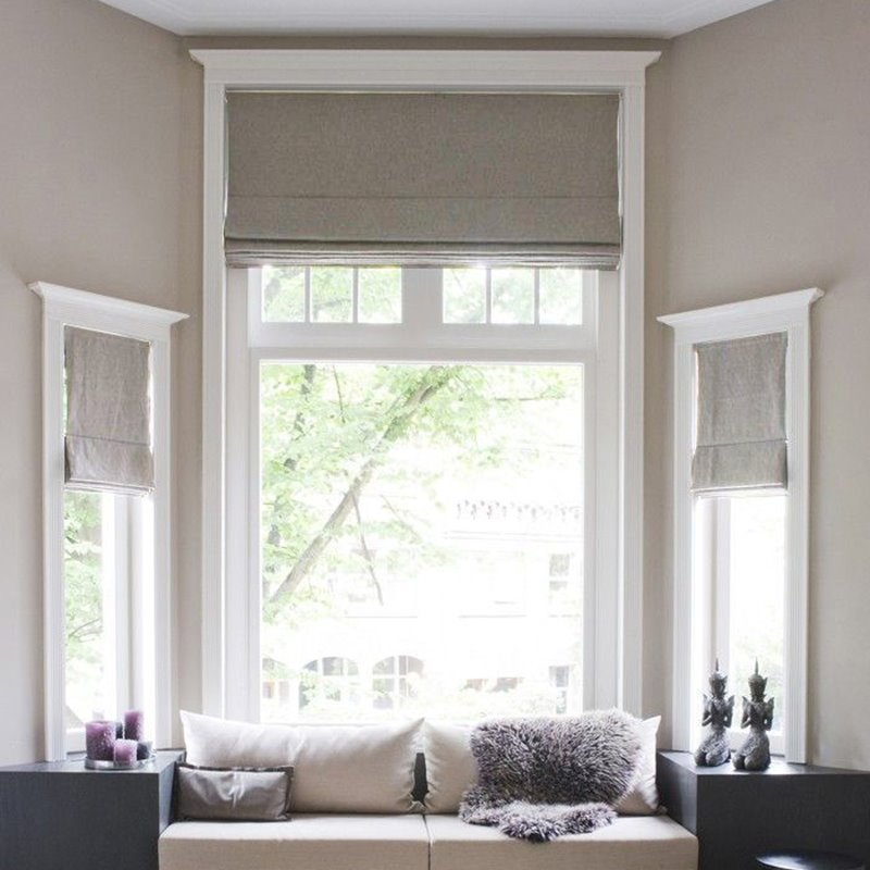 Tips On Blending Great Colors With Beige: Solid Color Beige Cotton And Linen Blending Flat-Shaped