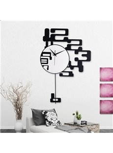 Creative Modern Design Black Numbers Decoration Mute Battery Wall Clock