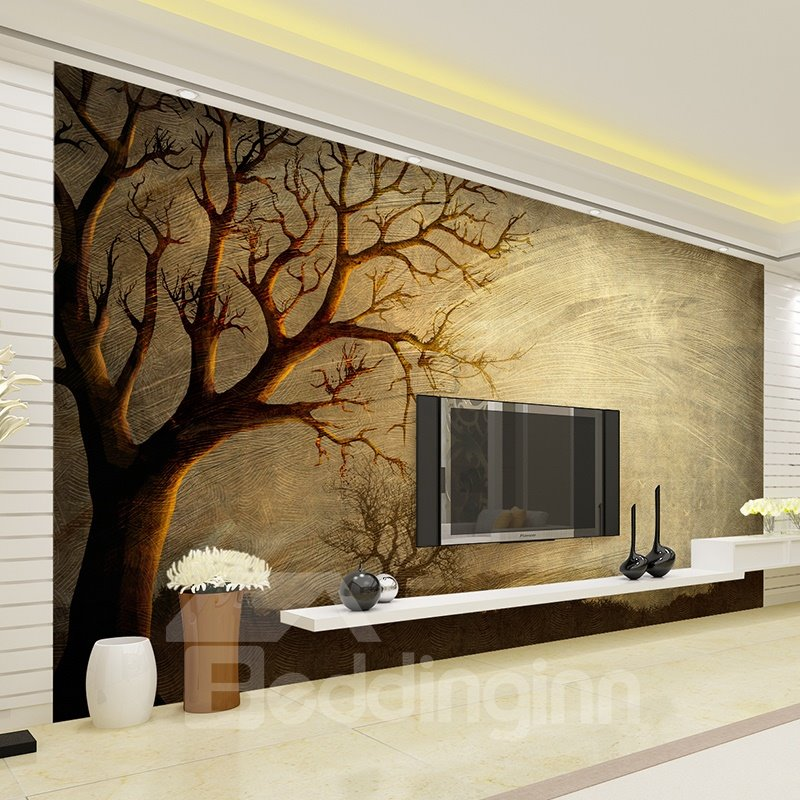 Wonderful simple tree pattern design waterproof 3d wall for Mural 3d simple