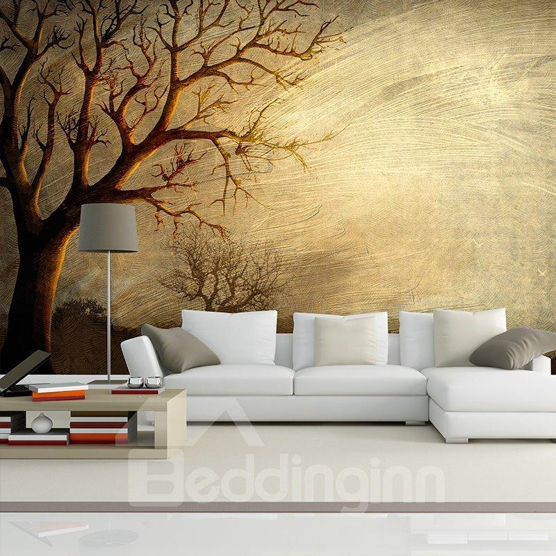 Wonderful simple tree pattern design waterproof 3d wall for Mural 3d simple