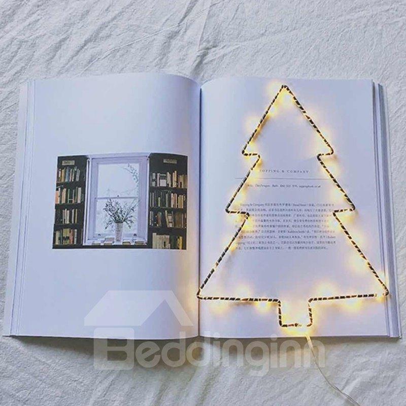 Unique Iron Christmas Tree Shape Design Battery