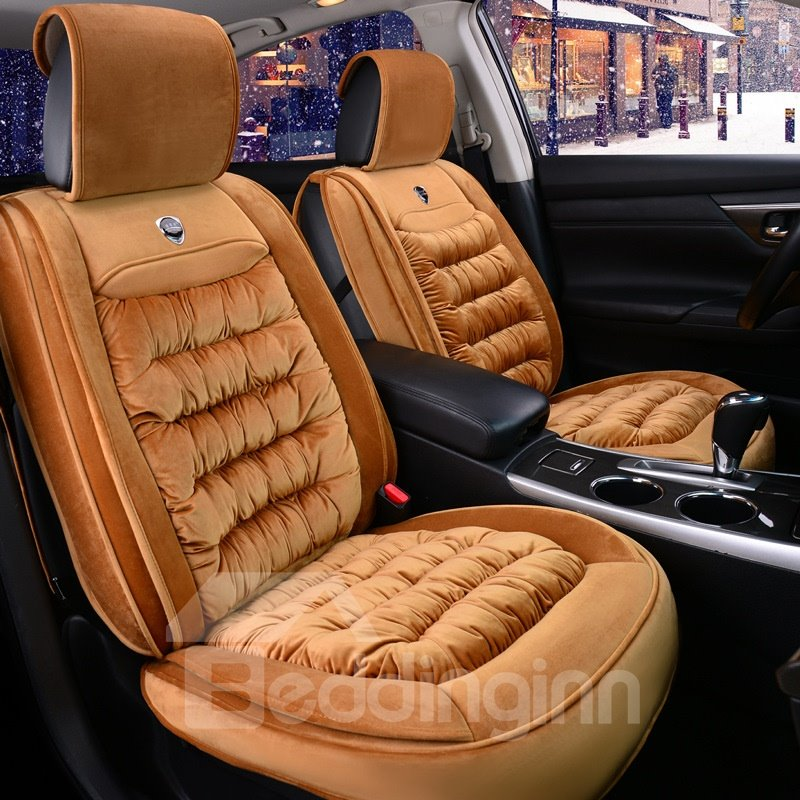 Zebra Stripe Car Front Seat Cover Fabric Universal Fits Non Detachable Headrest Racing Styling Car Seat Protector