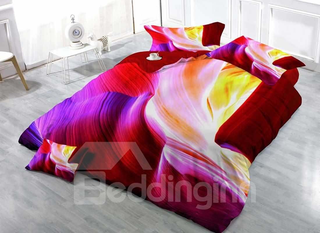 3D Colorful Cave Digital Printing Cotton 4-Piece Bedding Sets/Duvet Covers 12846355