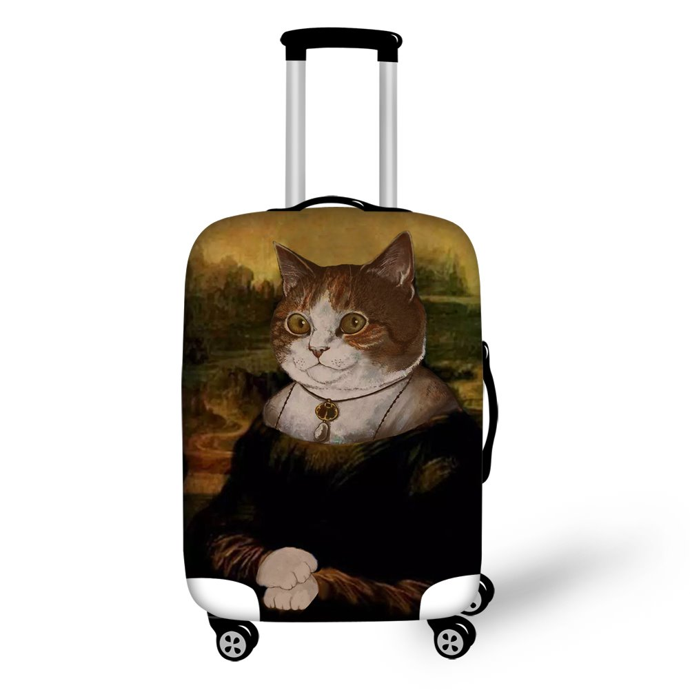 Cat's Smile Mona Lisa Style Waterproof Spandex 3D luggage Covers 12868772