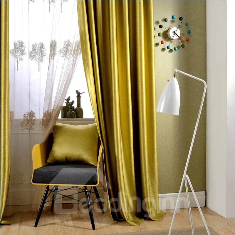 Luxurious Blackout Polyester Printing Elegant Decor Of Room Curtains