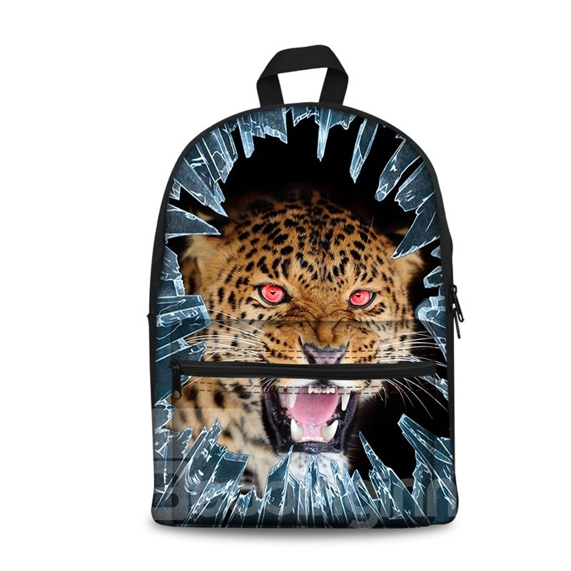 New 3D Animals Leopard Print Washable Backpack