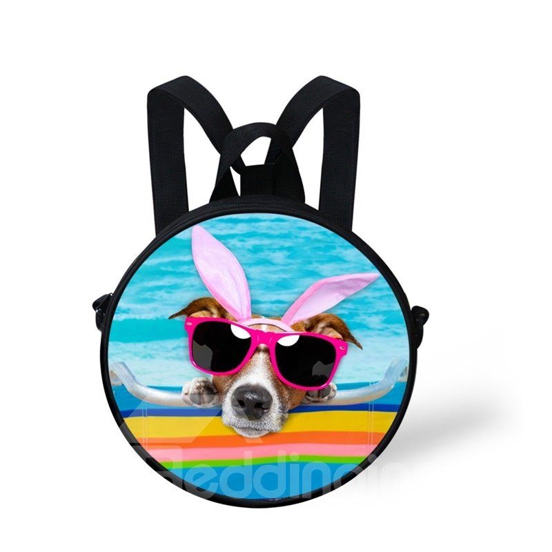Round 3D Swimming Pool Puppy Pattern School