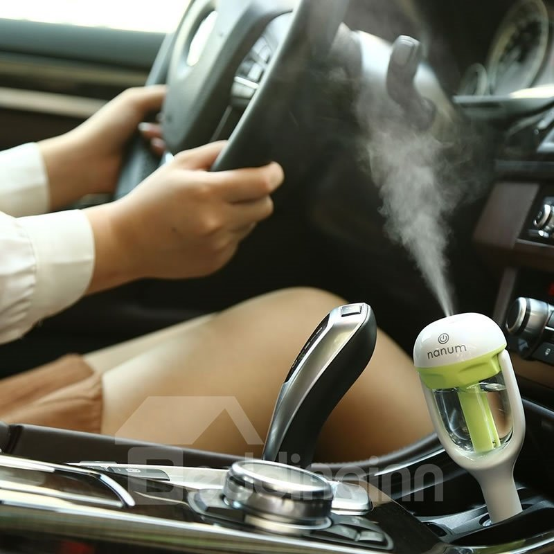 Car Air Humidifier And Freshener With Built