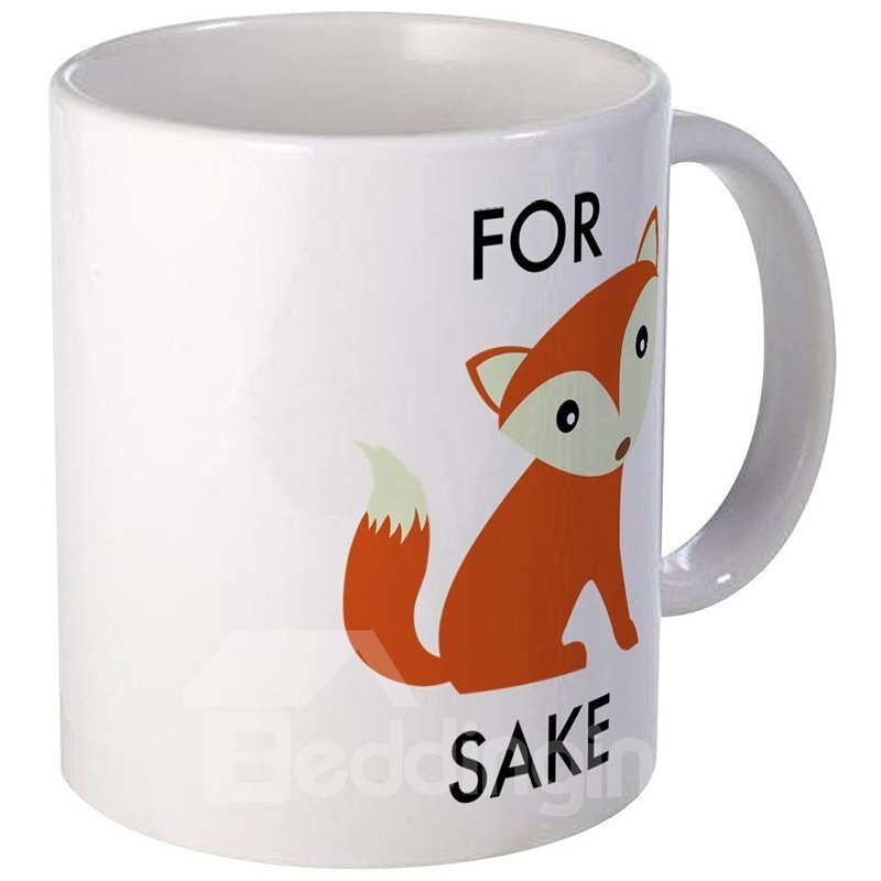 Bargain Cute and Lovely Ceramics Fox Cups Creative Birthday Gift Cups and Mugs 12929624