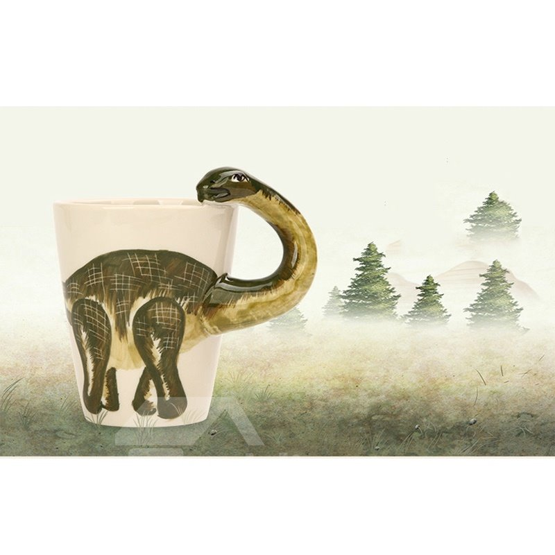 Creative and Lovely Style Ceramics Hand Painted Dinosaur Birthday Gift Cups and Mugs 12947601