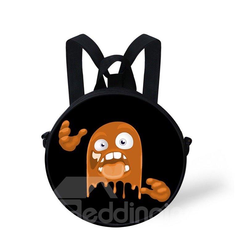Halloween Pumpkin Color Pattern School Bag Shoulders