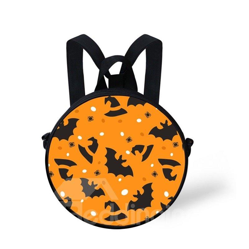 Round 3D Witch Hat Halloween Bat Pattern