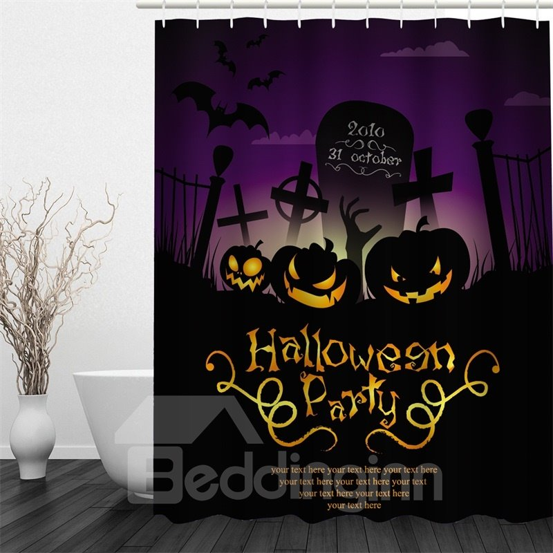 3D Halloween Party Hurray Polyester Waterproof Antibacterial