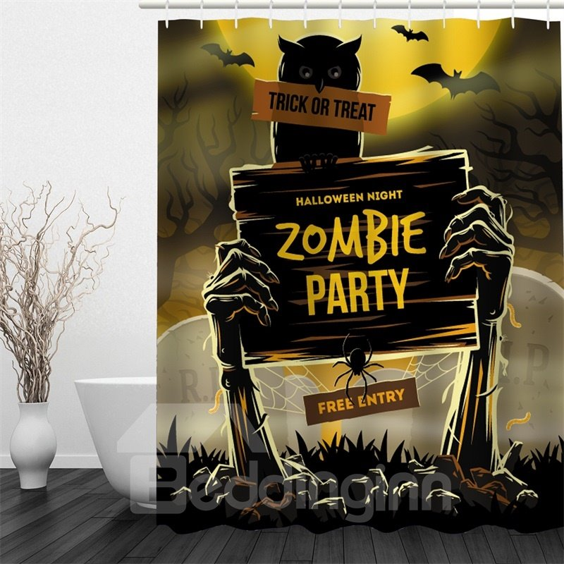 3D Halloween Zombie Party Polyester Waterproof Antibacterial