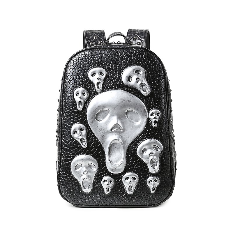 Ghost Skull 3D PU Leather Casual Laptop