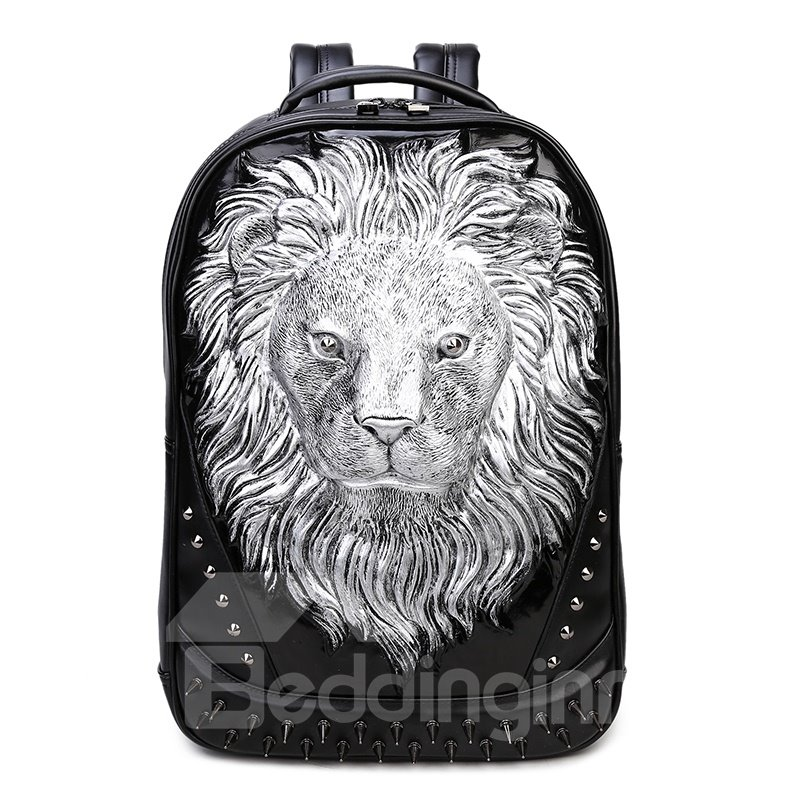 Personalized 3D Lion PU Leather Casual Laptop