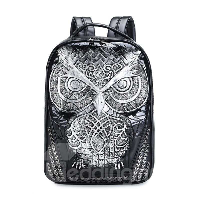 Personalized 3D Owl PU Leather Casual Laptop