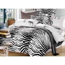 Very Sexy Zebra Print Soft Cotton Bedding Sets