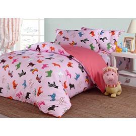Lovely Little Unicorn Pattern Organic Cotton 4-Piece Duvet Cover Sets