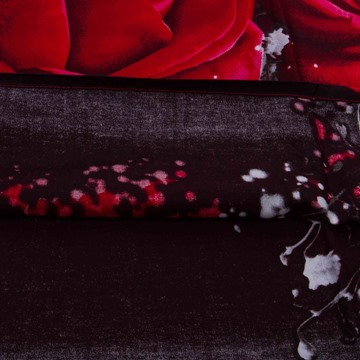 Luxury Big Red Rose Realistic 3D Printed 4 Pieces Bedding Sets