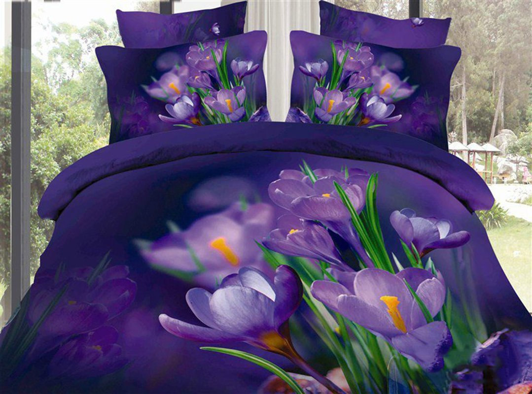 queen size purple bedding sets