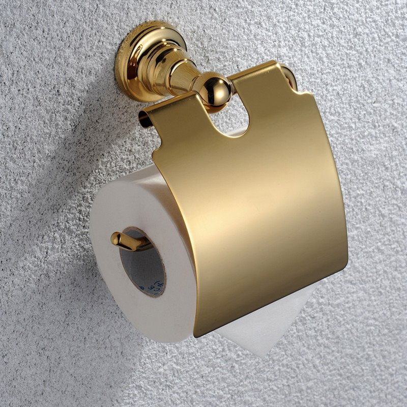 Ti-PVD Bathroom Accessories Toilet Roll Holders