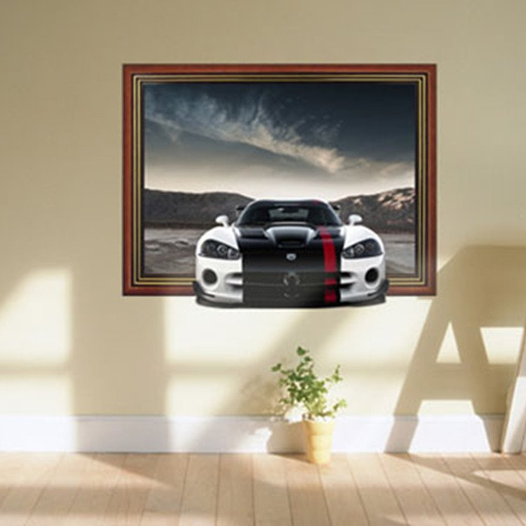 INOpets.com Anything for Pets Parents & Their Pets Stunning 3D Sports Car Pattern Wall Sticker