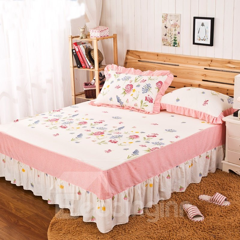 INOpets.com Anything for Pets Parents & Their Pets Cozy Comfortable Flower Border Pattern Bed Skirt