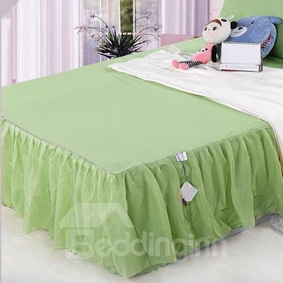 INOpets.com Anything for Pets Parents & Their Pets Fresh and Cool Pure Apple Green Lace Border Bed Skirt