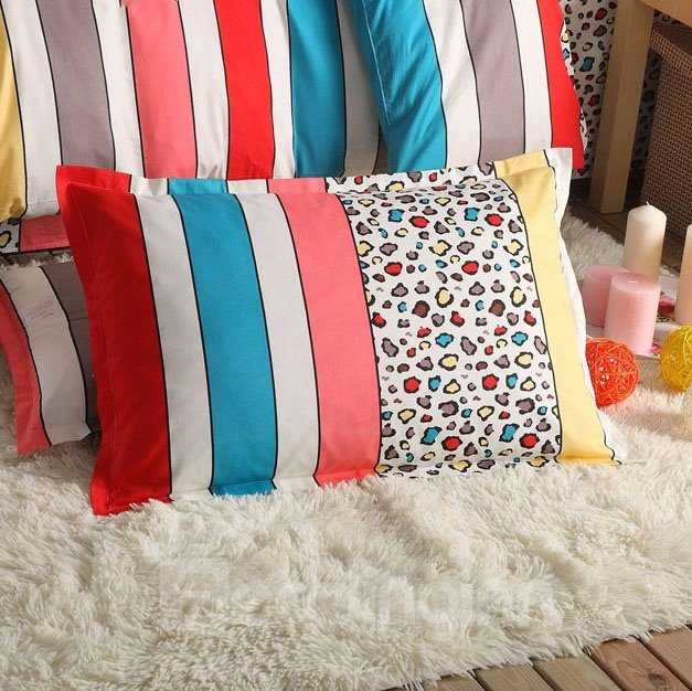 INOpets.com Anything for Pets Parents & Their Pets New Style Leopard Stripes Pattern Bed Pillowcase