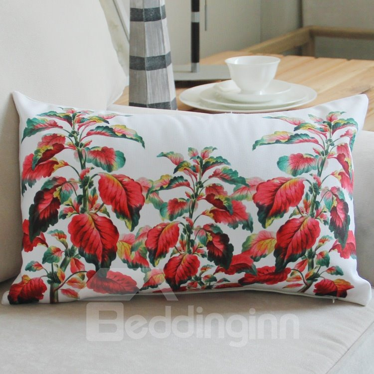 INOpets.com Anything for Pets Parents & Their Pets New Style Red Plant Pattern Bed Pillow