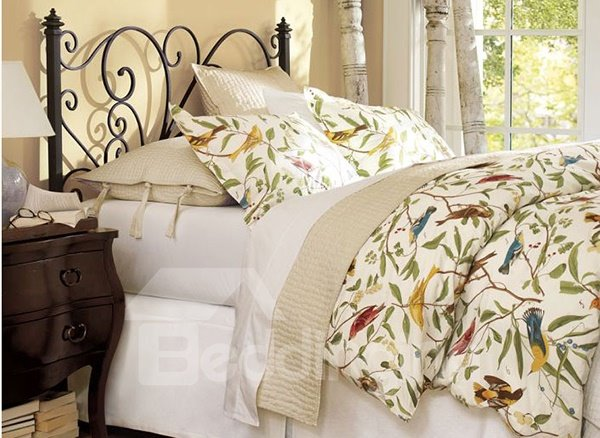 colors for bedroom soft country birds and flower print 4 11175