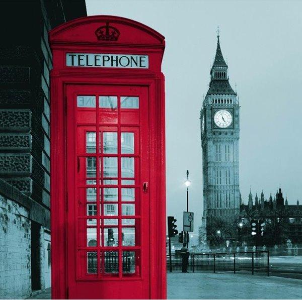 Chic London Big Ben Print Shower Curtain