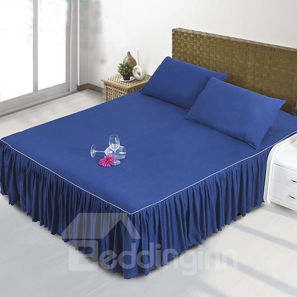 INOpets.com Anything for Pets Parents & Their Pets Mysterious Dark Blue Polyester Fiber Bed Skirt