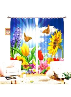 curtains for bedroom new arrival lifelike crane in water print light blocking 11334