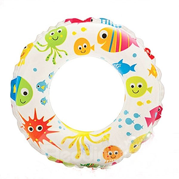 INOpets.com Anything for Pets Parents & Their Pets Colorful Fish Pattern Children Swim Ring