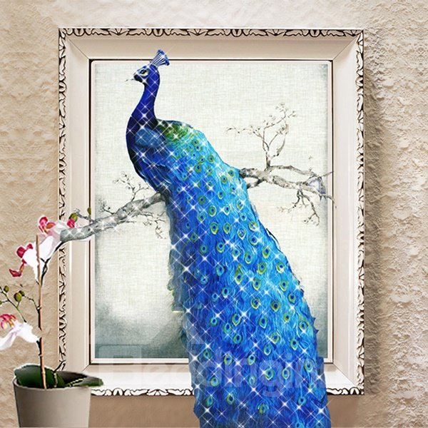 home decorators collection 5248210410 stunning graceful peacock 1 diy 3d sticker 11396